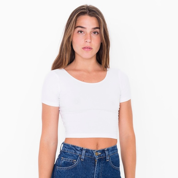 073f5ab4f89 American Apparel Tops - American Apparel Crop T-Shirt in White